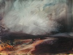 image of landscape oil painting Moorland 12 by David Ladmore