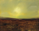 image of landscape oil painting Moorland 13 by David Ladmore