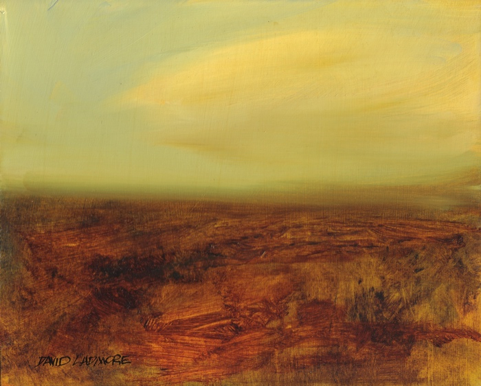 image of landscape oil painting Moorland 14 by David Ladmore