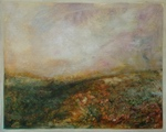 image of landscape oil painting Moorland 20 by David Ladmore