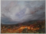 image of landscape oil painting Moorland 22 by David Ladmore