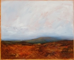 image of landscape oil painting Moorland 26 by David Ladmore