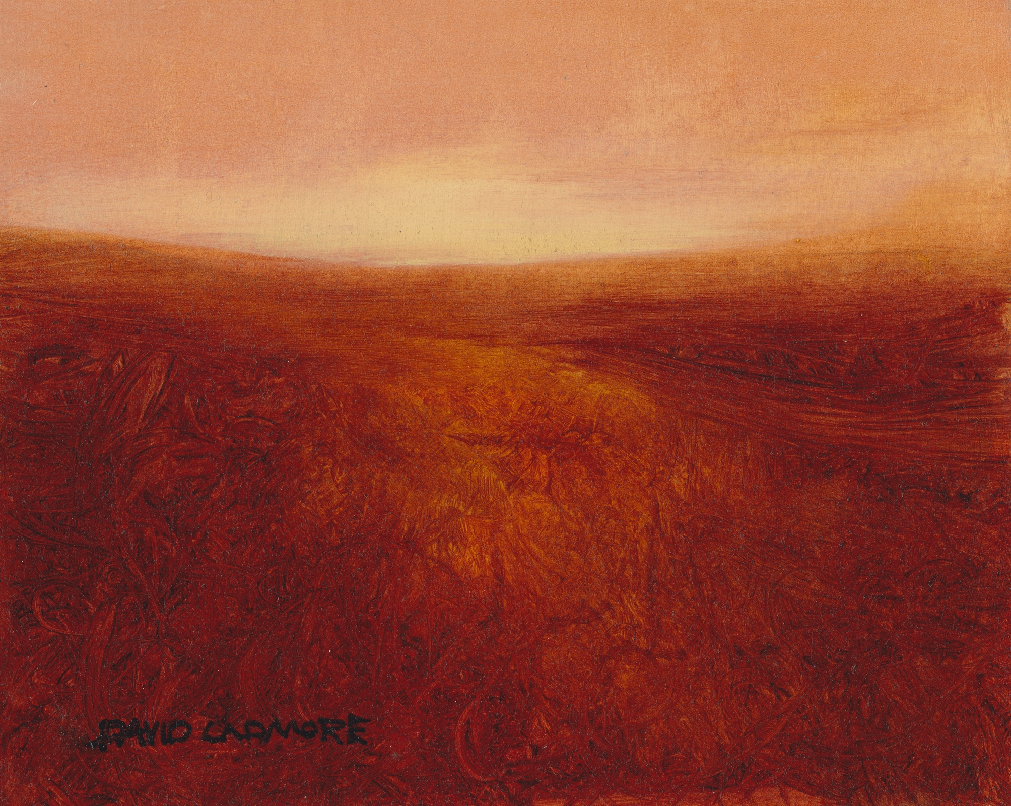 image of landscape oil painting Moorland 28 by David Ladmore