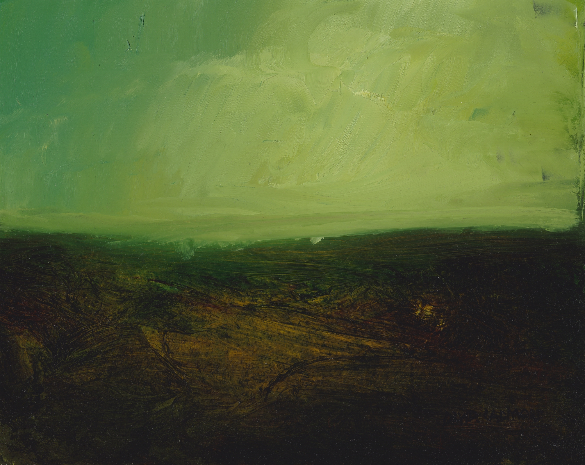 image of landscape oil painting Moorland 31 by David Ladmore