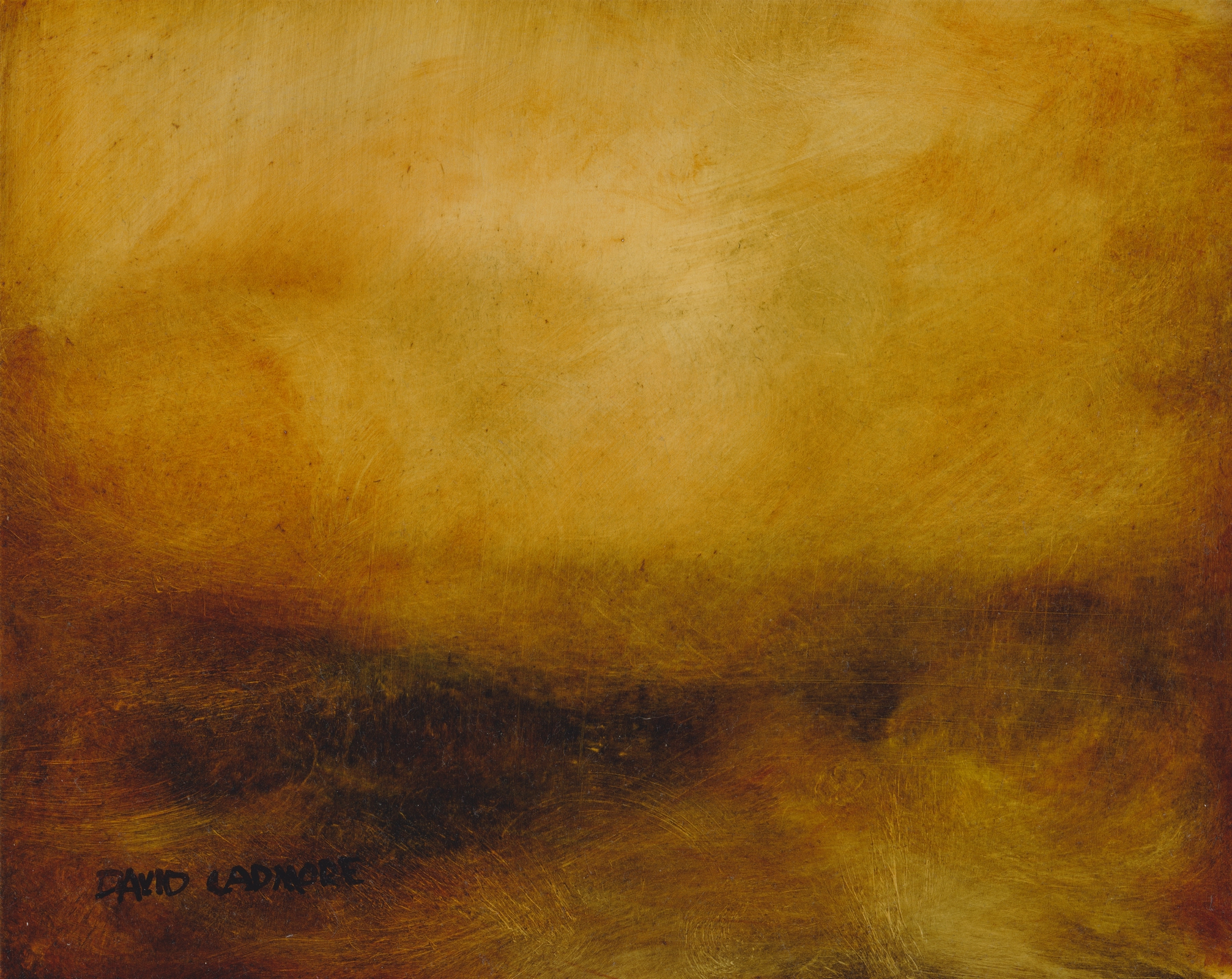 image of landscape oil painting Moorland 35 by David Ladmore