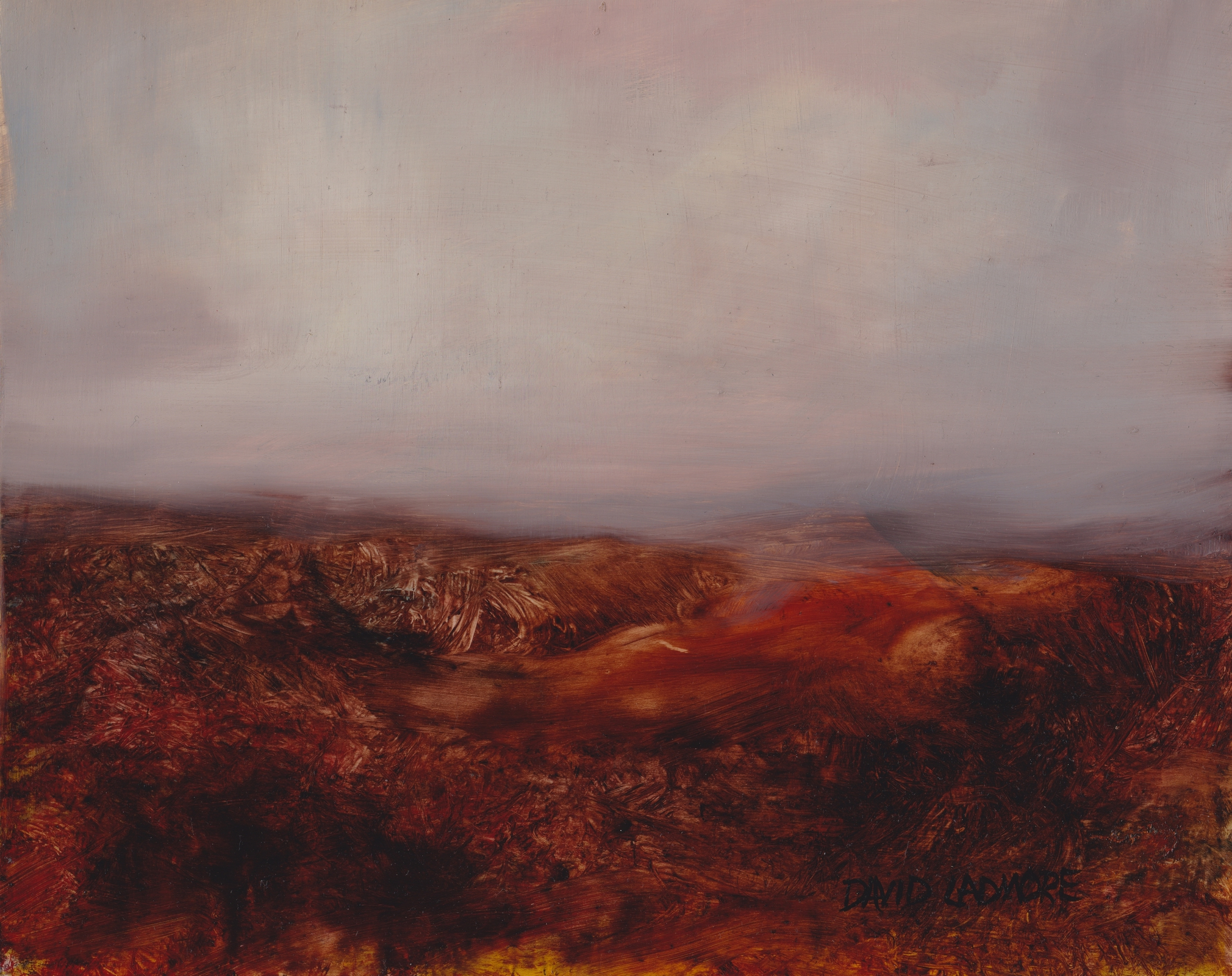 image of landscape oil painting Moorland 36 by David Ladmore