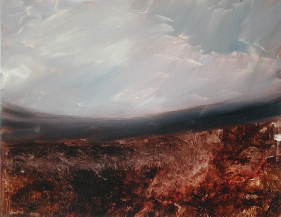 image of landscape oil painting Moorland 3 by David Ladmore
