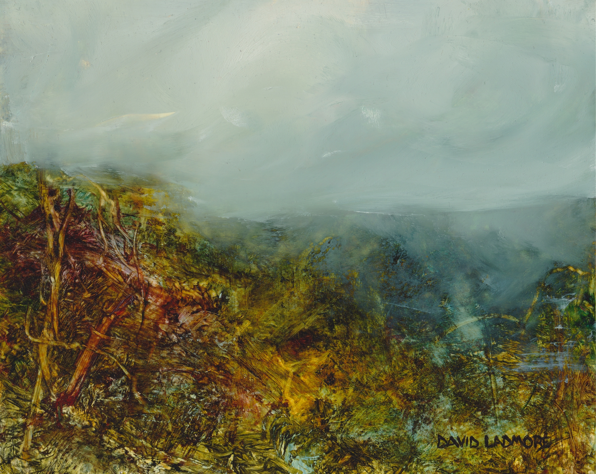 image of landscape oil painting Moorland 40 by David Ladmore