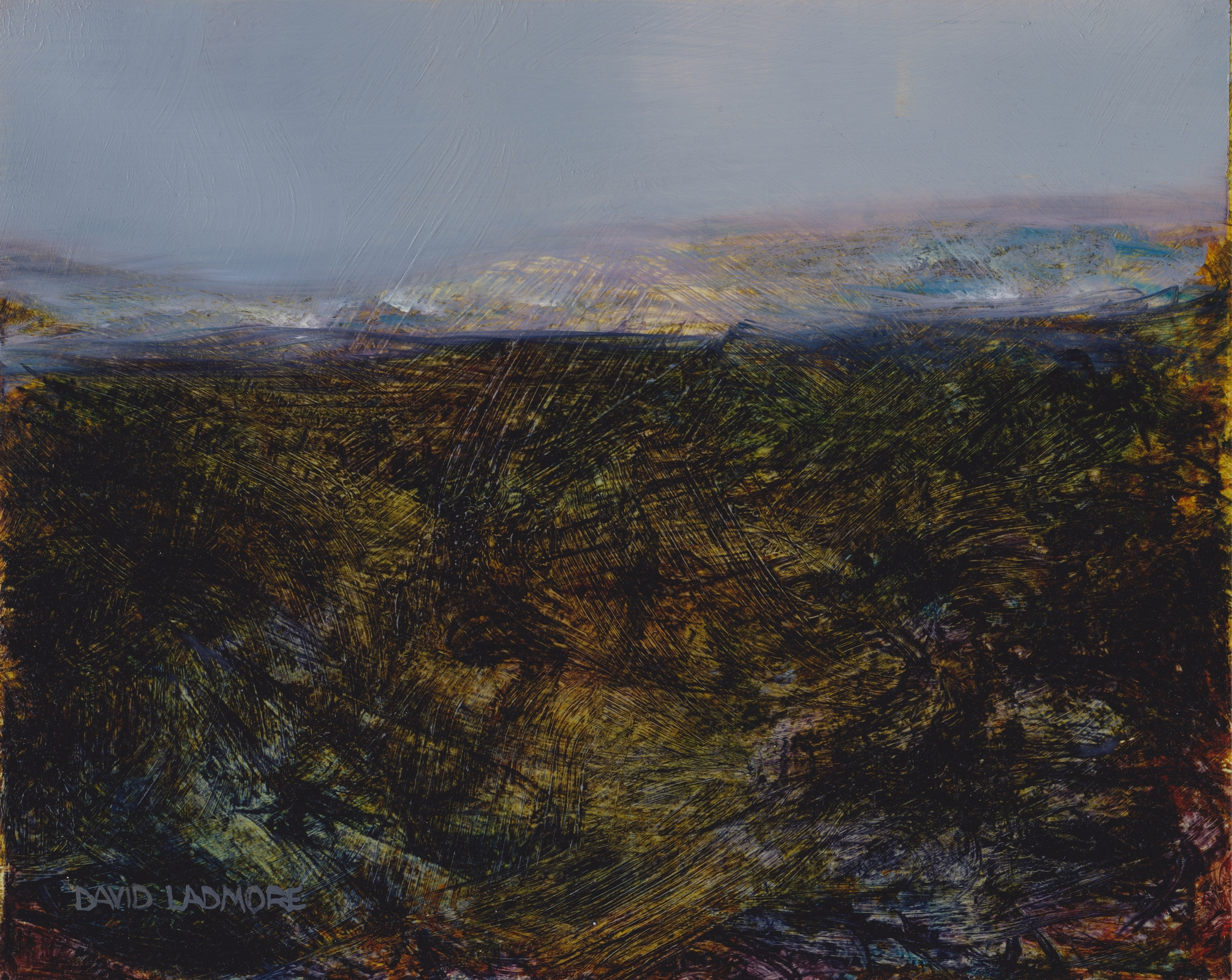 image of landscape oil painting Moorland 41 by David Ladmore
