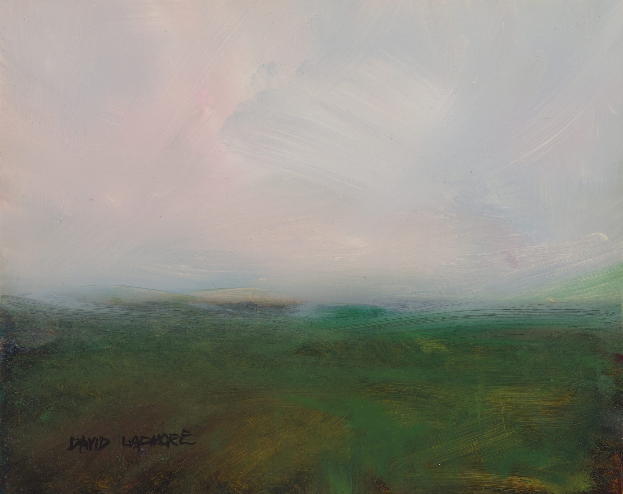 image of landscape oil painting Moorland 42 by David Ladmore