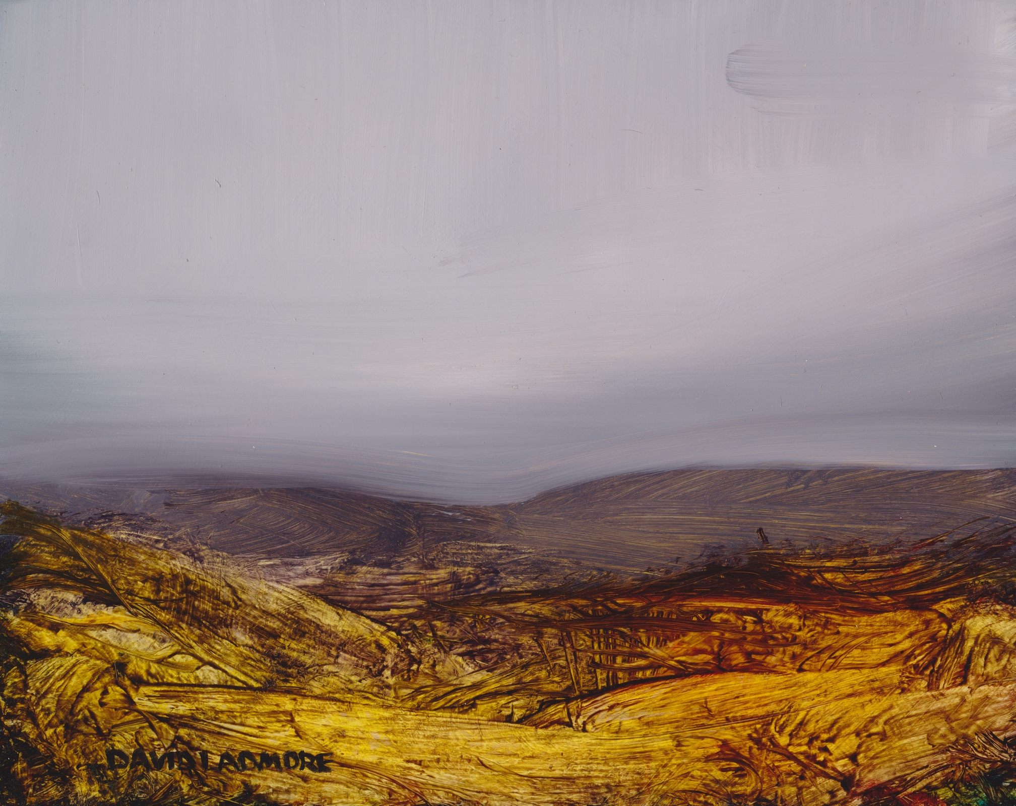 image of landscape oil painting Moorland 44 by David Ladmore