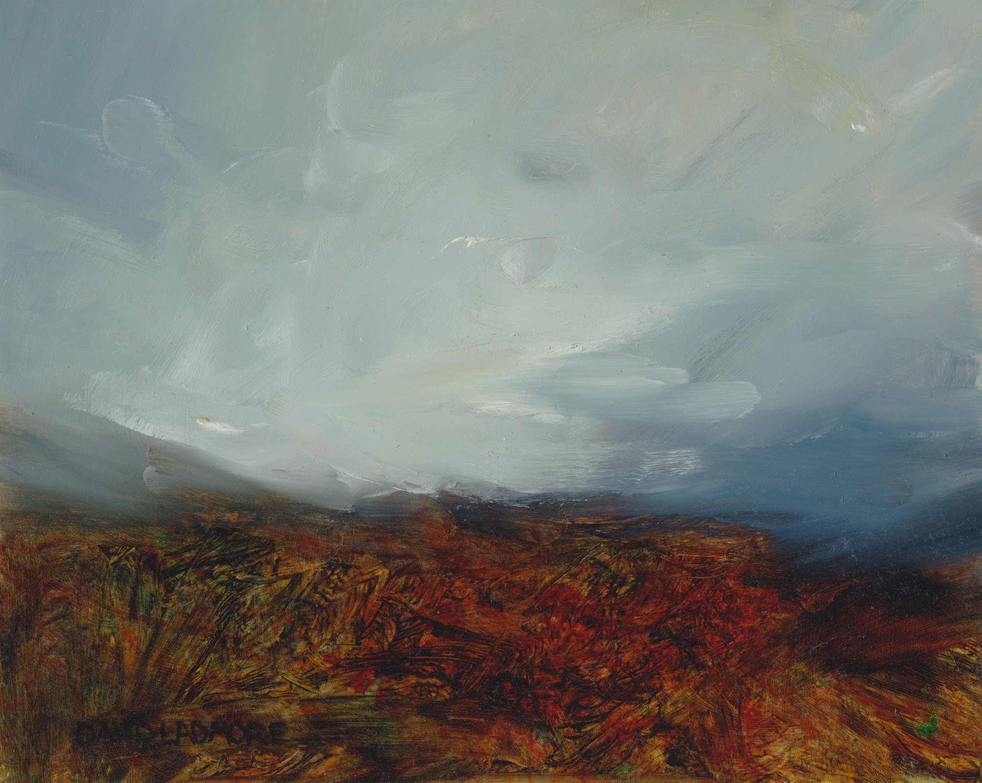 image of landscape oil painting Moorland 49 by David Ladmore