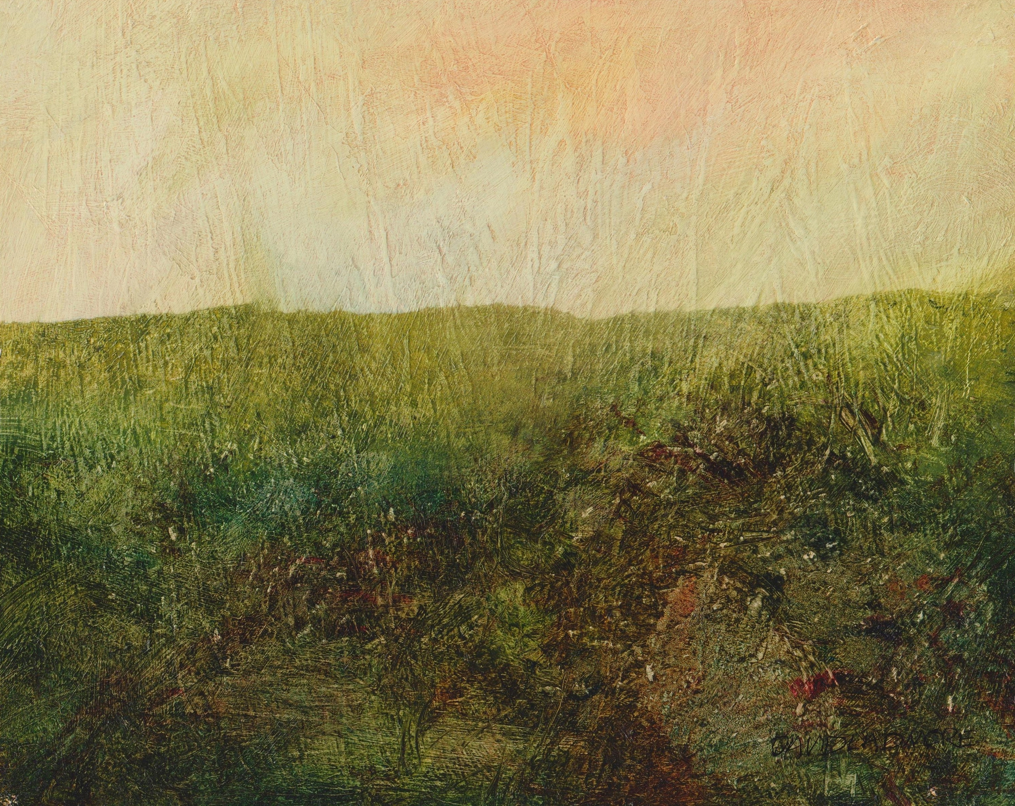 image of landscape oil painting Moorland 61 by David Ladmore