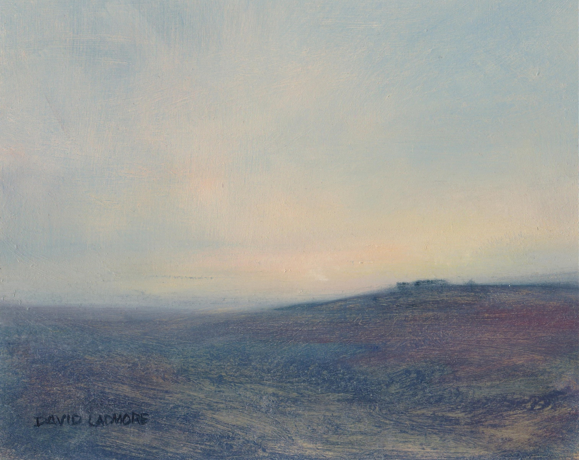 image of landscape oil painting Moorland 66 by David Ladmore