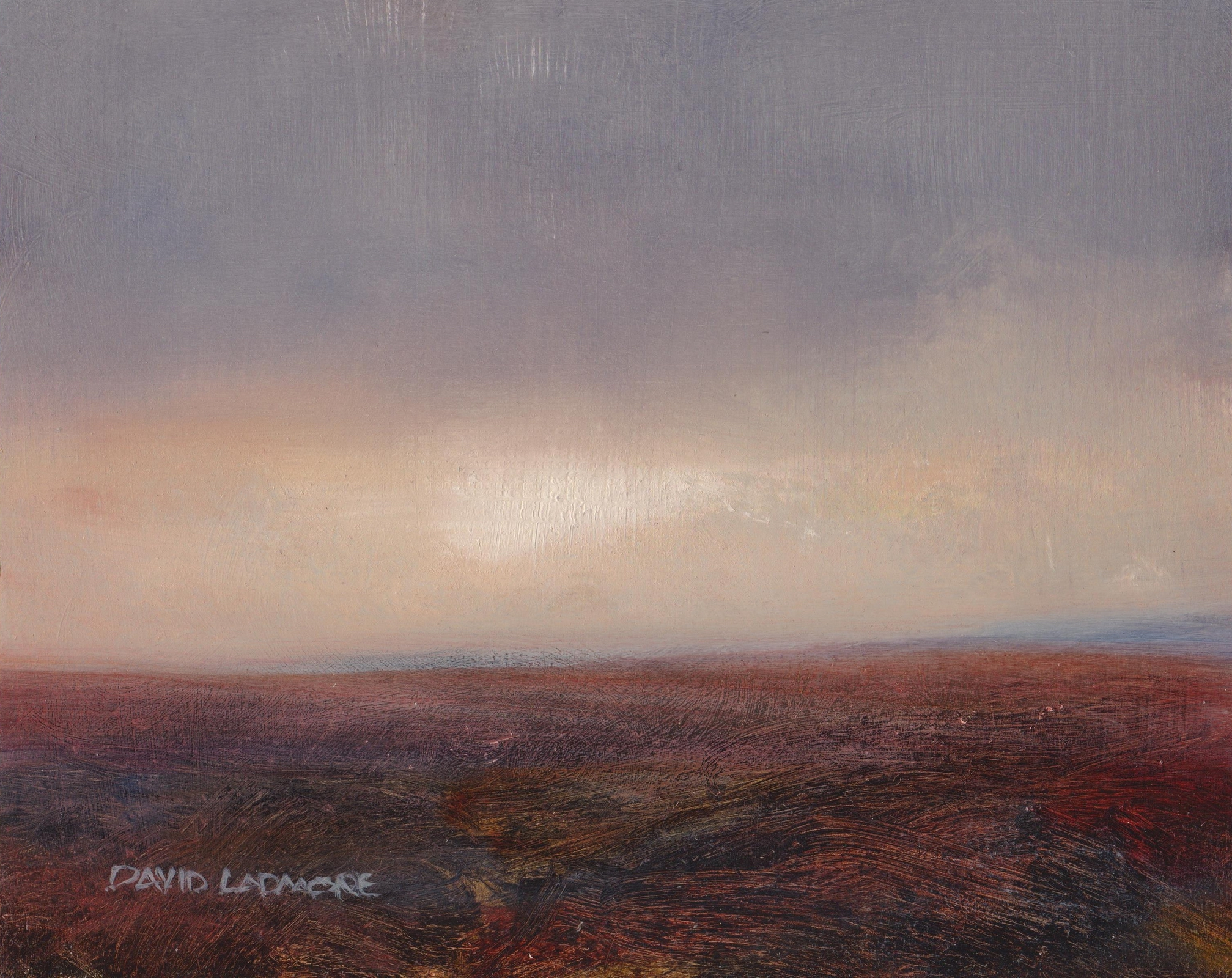 image of landscape oil painting Moorland 68 by David Ladmore