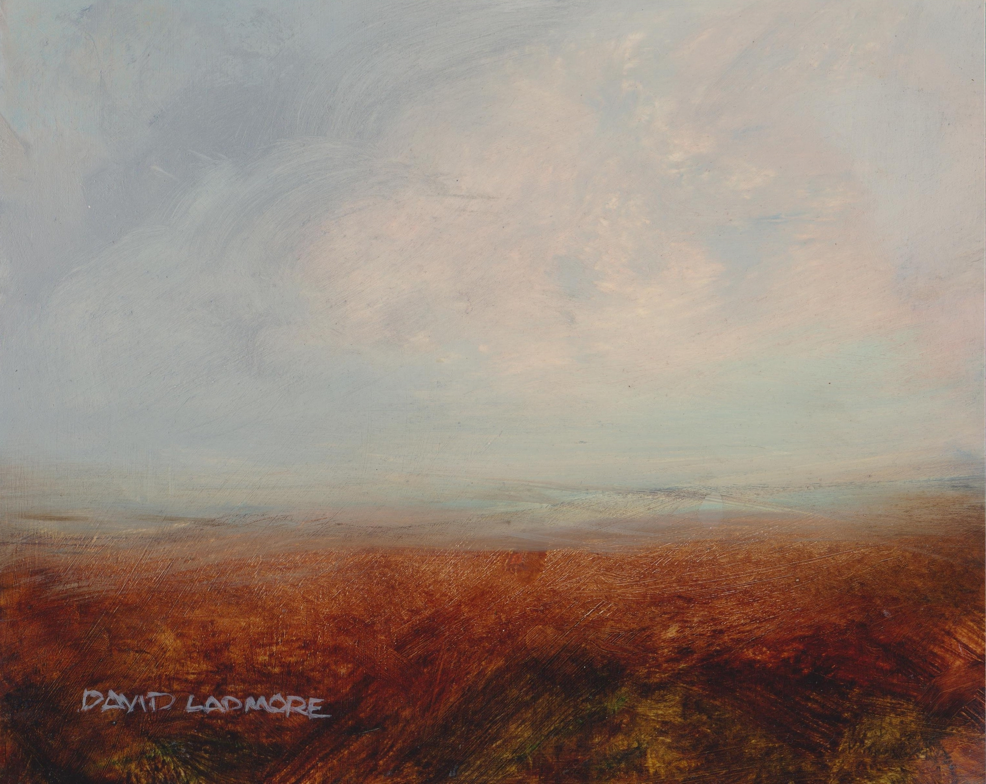 image of landscape oil painting Moorland 69 by David Ladmore