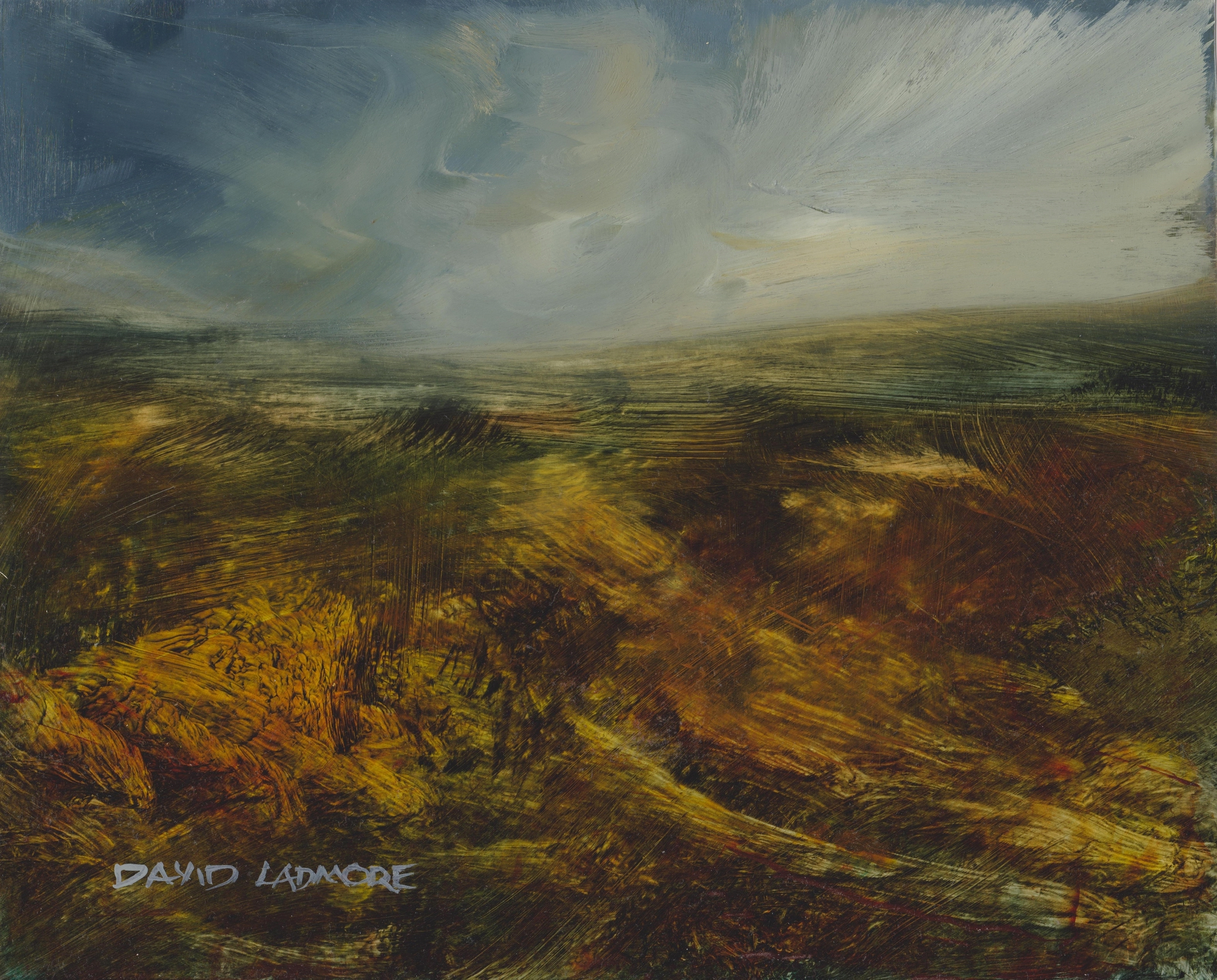 image of landscape oil painting Moorland 71 by David Ladmore