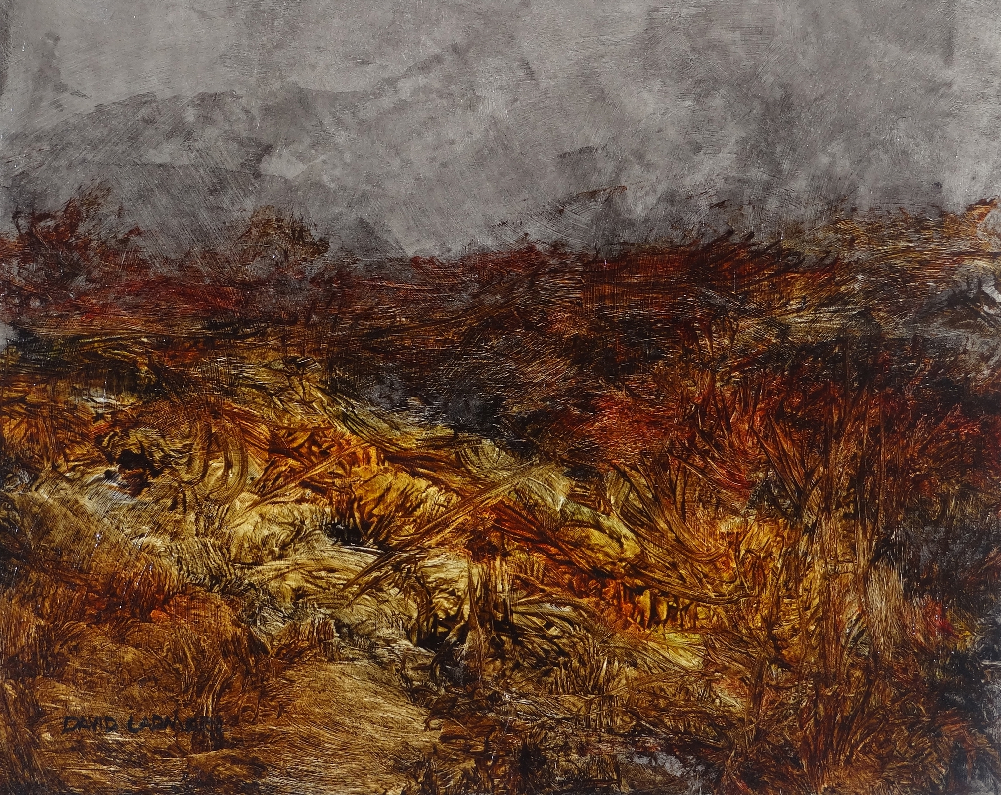 image of landscape oil painting Moorland 72 by David Ladmore