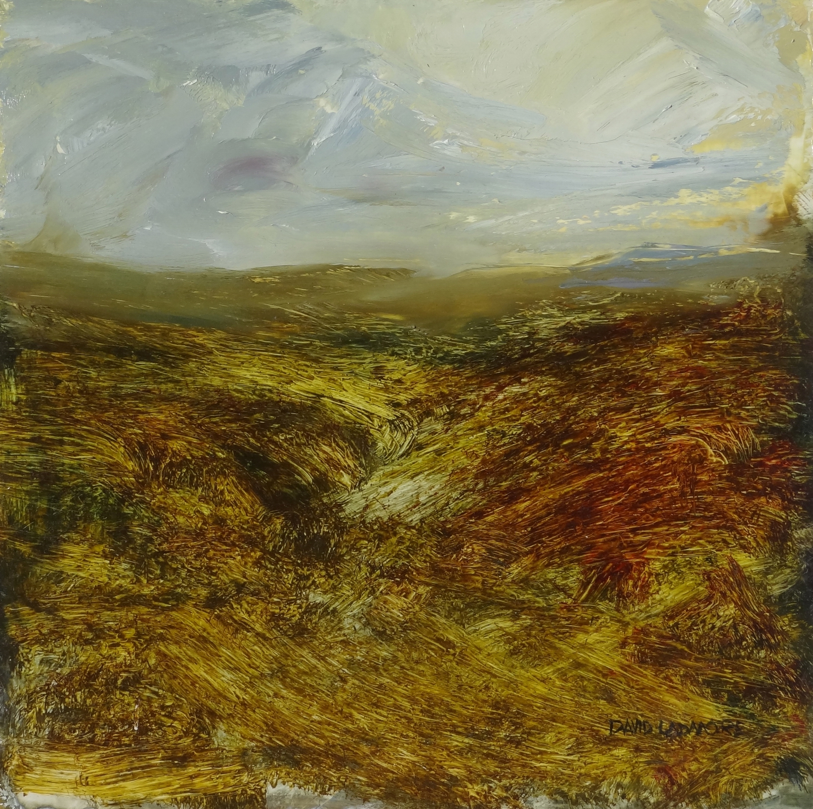 image of landscape oil painting Moorland 74 by David Ladmore