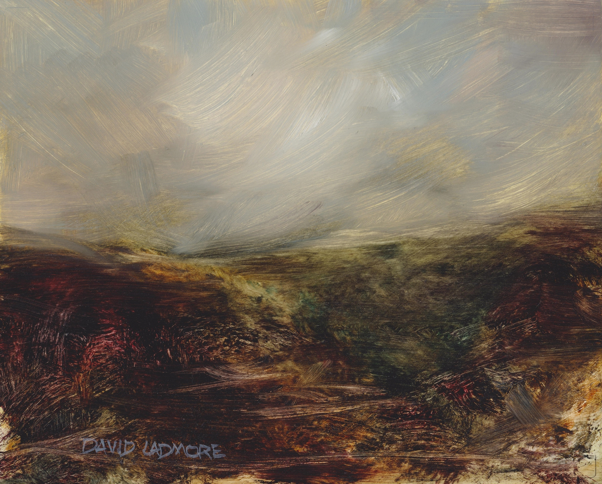 image of landscape oil painting Moorland 76 by David Ladmore