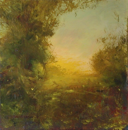 image of landscape oil painting Morning Light 4 by David Ladmore