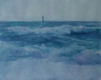 image of watercolor landscape painting Ocean by David Ladmore
