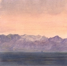 image of watercolor landscape painting Olympics by David Ladmore