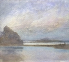 image of watercolor landscape painting Oregon Coast I by David Ladmore