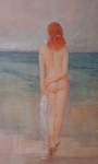 image of nude watercolor painting Pacific Ocean #3 by David Ladmore