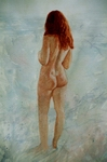 image of watercolor nude Pacific Ocean by David Ladmore