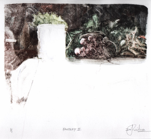 image of monotype print Parsley II by David Ladmore