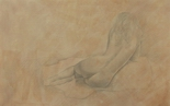 image of nude silverpoint drawing Repose #1 by David Ladmore