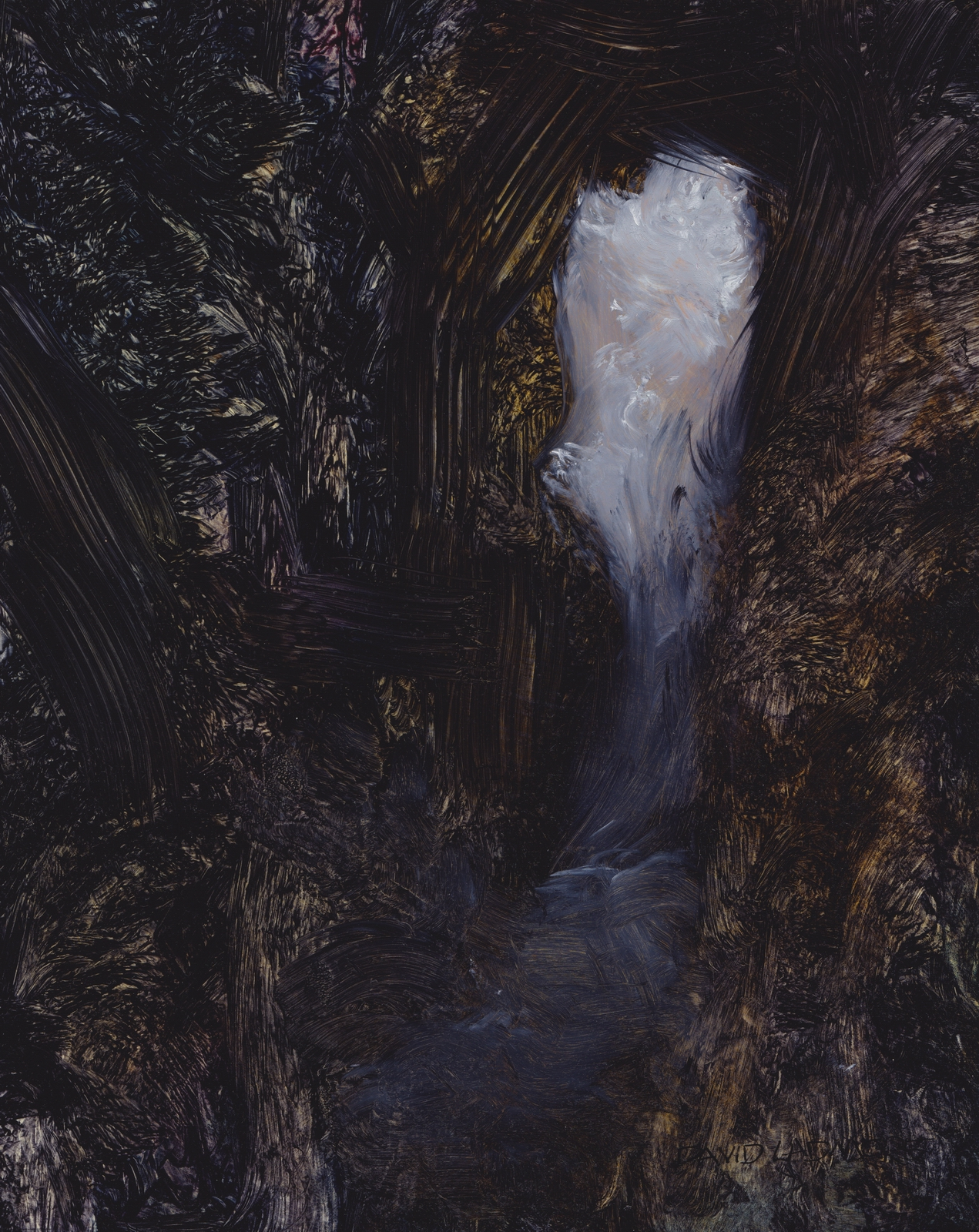 image of oil painting Sea Cave 11 by David Ladmore