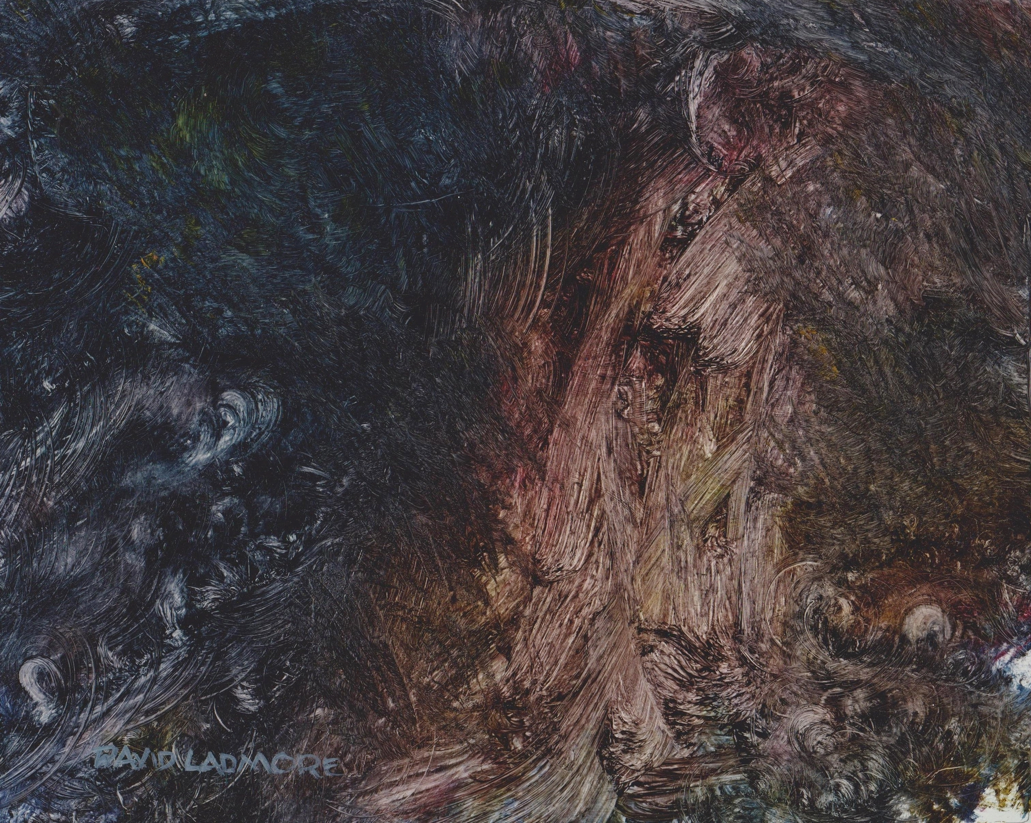image of oil painting Sea Cave 17 by David Ladmore