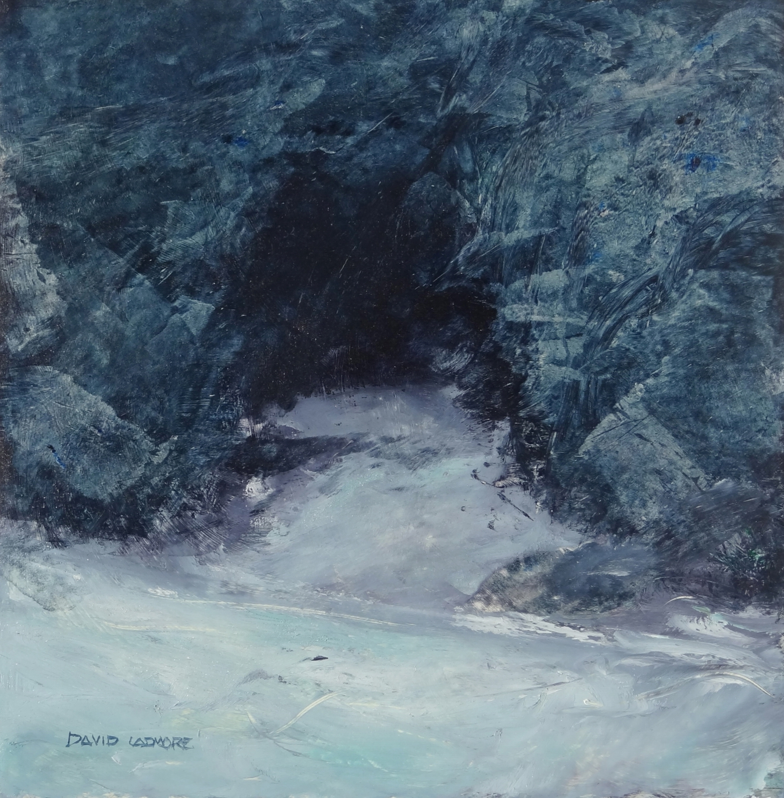 image of oil painting Sea Cave 18 by David Ladmore