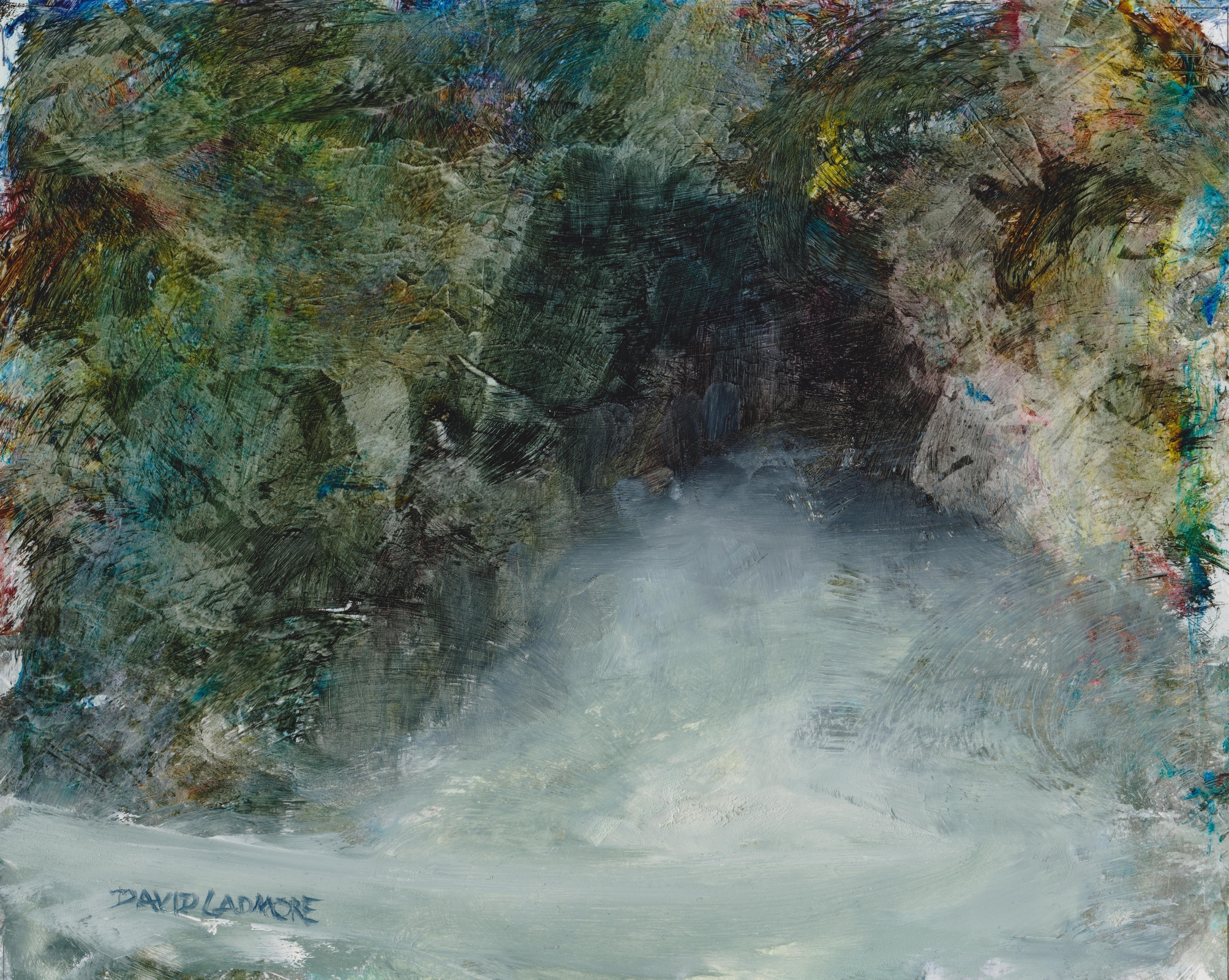 image of oil painting Sea Cave 19 by David Ladmore