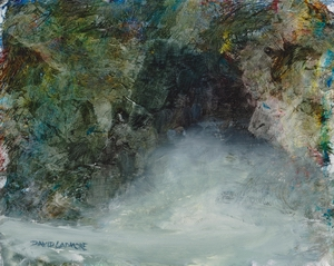 image of landscape oil painting Sea Cave 19 by David Ladmore