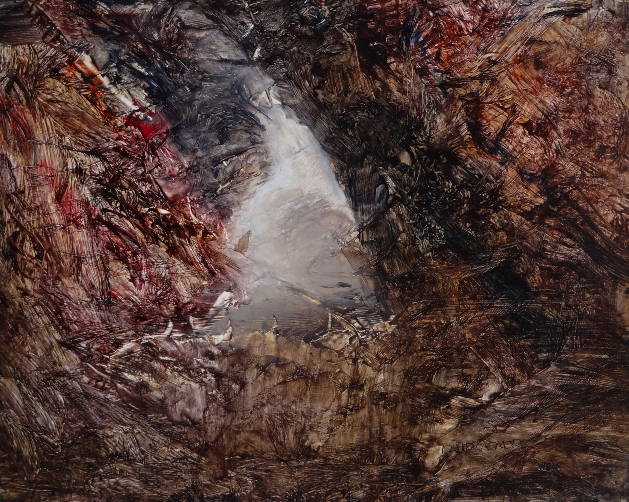 image of oil painting Sea Cave 5 by David Ladmore