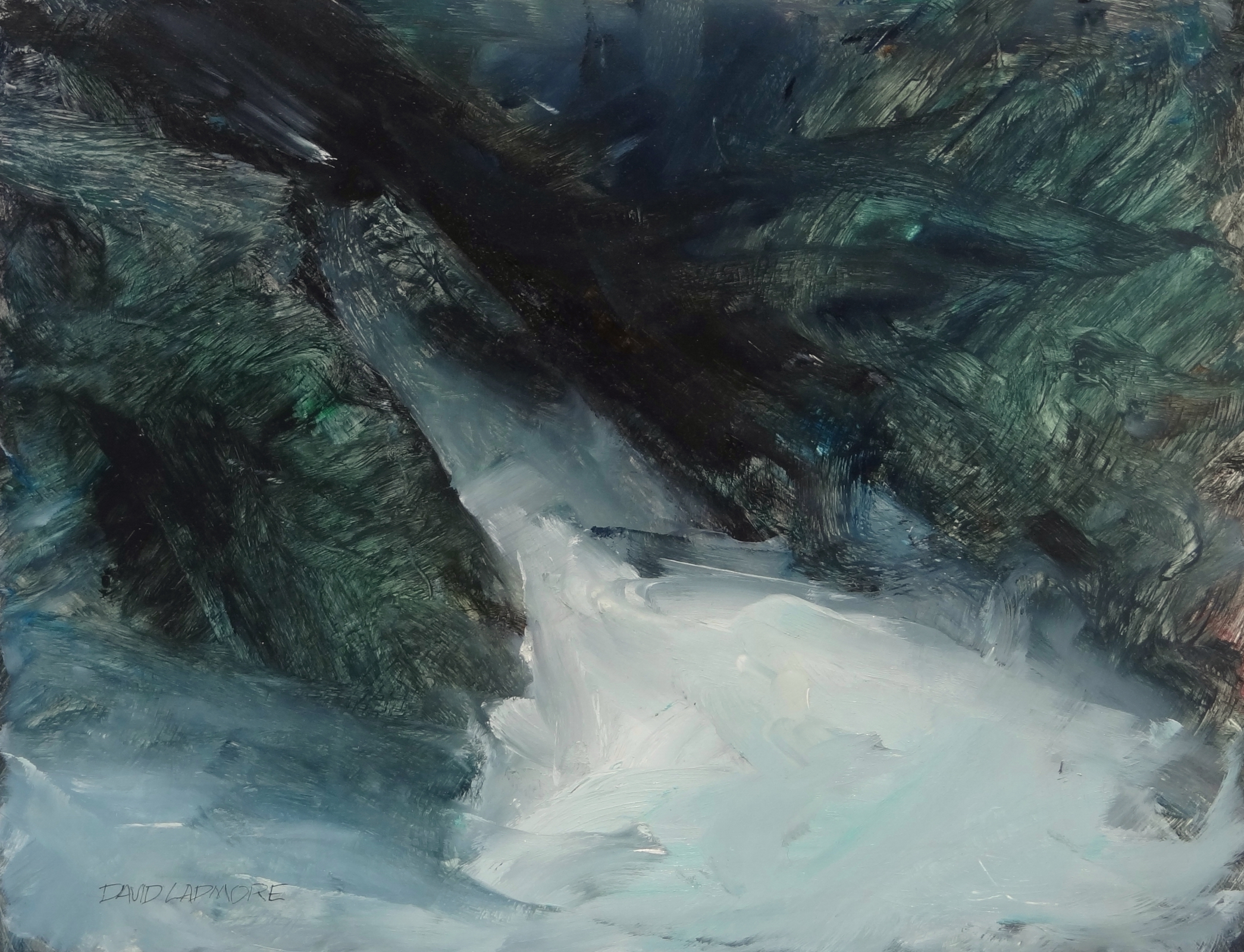 image of oil painting Sea Cave 6 by David Ladmore