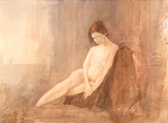 The Swanwick Collection: David Ladmore - Seated Nude 3