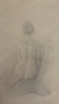 image of nude silverpoint drawing Seated Nude #4 by David Ladmore