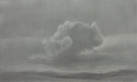 image of landscape silverpoint drawing Sky Study #2 by David Ladmore