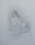 image of nude silverpoint drawing Study for James Bay Interior #7 by David Ladmore