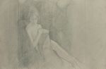 image of nude silverpoint drawing Study for James Bay Interior #6 by David Ladmore