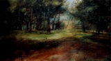 image of watercolor landscape painting Summit Park by David Ladmore