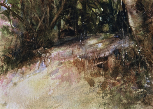 image of watercolor landscape painting Sunlit by David Ladmore