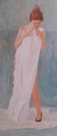 image of figurative watercolor painting The Artist's Wife II by David Ladmore