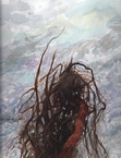 image of watercolor landscape painting Uprooted by David Ladmore