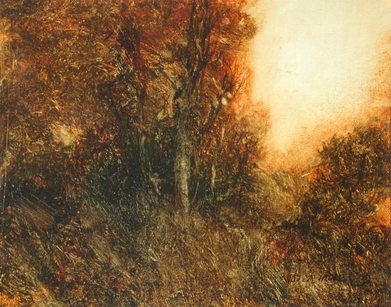 image of landscape oil painting Warm Earth 44 by David Ladmore