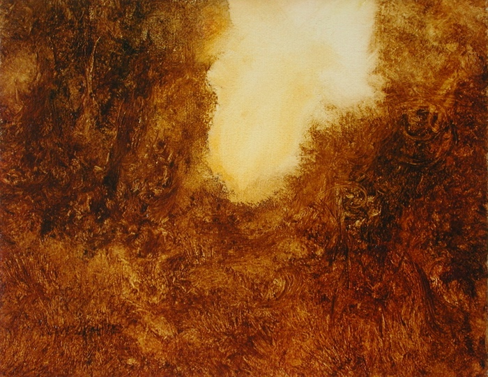 image of landscape oil painting Warm Earth 46 by David Ladmore